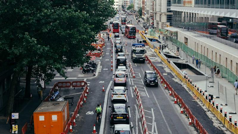 maintenance work on the Farringdon Street in Holborn London