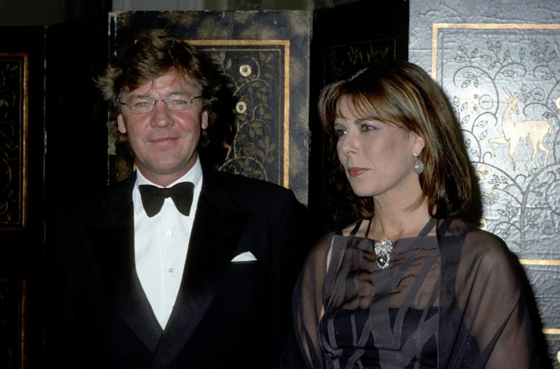 Prince Ernest and Princess Caroline of Hanover during 20th Anniversary Princess Grace Awards Gala at Waldorf Astoria Hotel in New York City, New York, United States. (Photo by Ron Galella, Ltd./Ron Galella Collection via Getty Images)