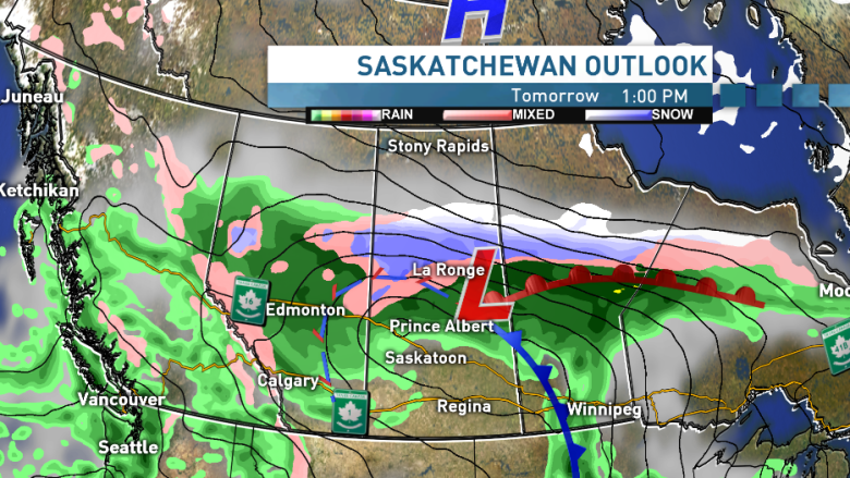 Windy, winter weather makes a comeback in Sask. this weekend