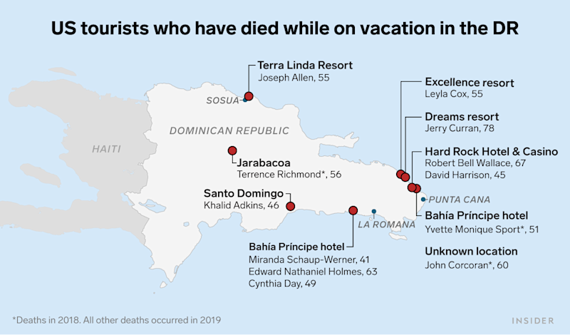 US tourists who have died while on vacation in the DR update