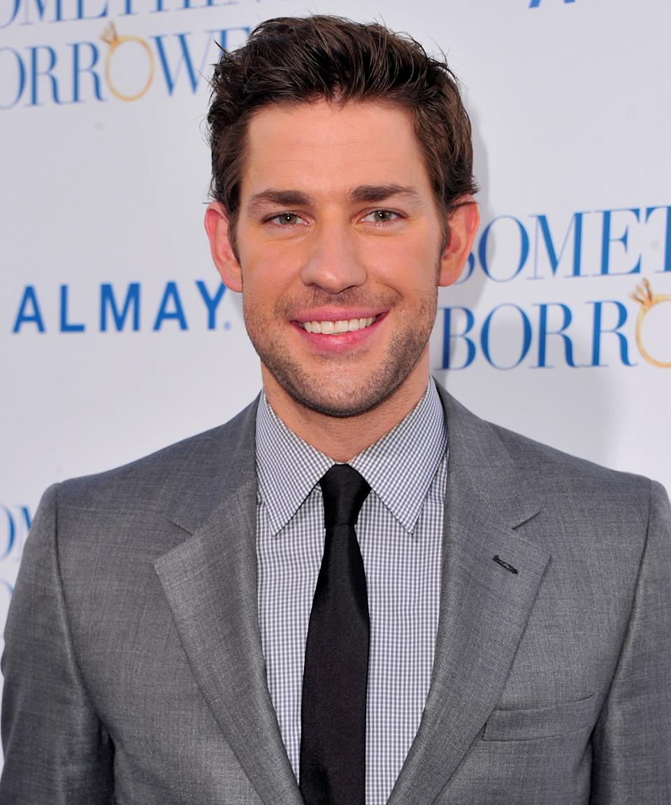 """<strong><h2>2010</h2></strong> Men wear makeup, too! Case in point: a bit of bronzer did wonders for Krasinski's complexion at the premiere for his rom-com <em>Something Borrowed</em> . (Or at least he looks like he was groomed by a Hollywood pro here.) <span class=""""copyright"""">Photo: Alberto E. Rodriguez/Getty Images.</span>"""