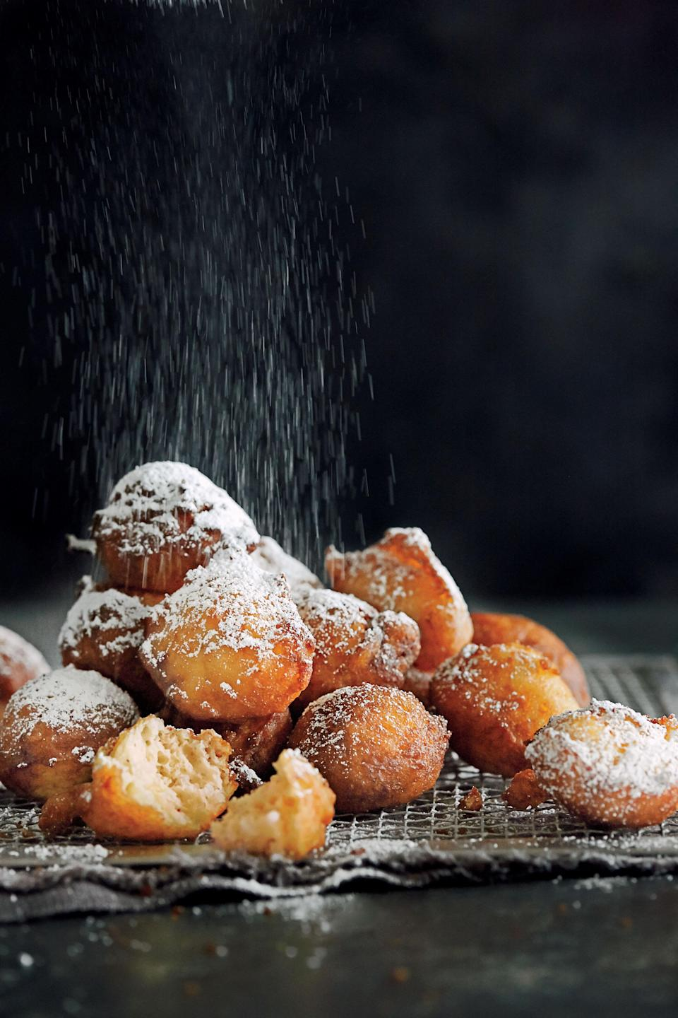 """<p><strong>Recipe:</strong> <a href=""""http://www.myrecipes.com/recipe/new-orleans-calas-50400000130706/"""" rel=""""nofollow noopener"""" target=""""_blank"""" data-ylk=""""slk:New Orleans Calas"""" class=""""link rapid-noclick-resp""""><strong>New Orleans Calas</strong></a></p> <p>The Calas Women, as they were called, peddled these hot breakfast fritters—whose name comes from the African word """"kárá""""—each morning in the French Quarter. The street vendors have vanished, so we honor them here with a classic rice-dough recipe too delicious to ever disappear.</p>"""