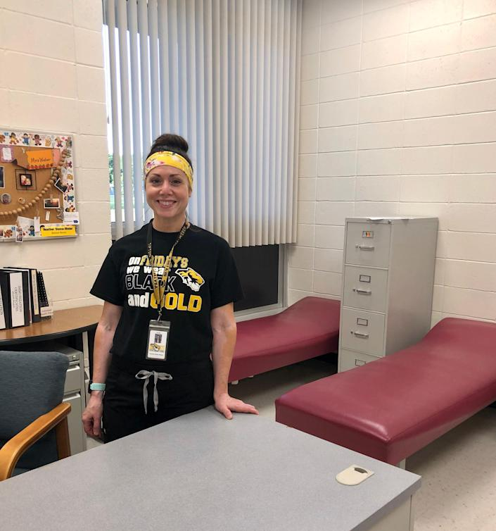 Heather Sloma-Weber is the school nurse for elementary and middle-school students in the Tipton school district.