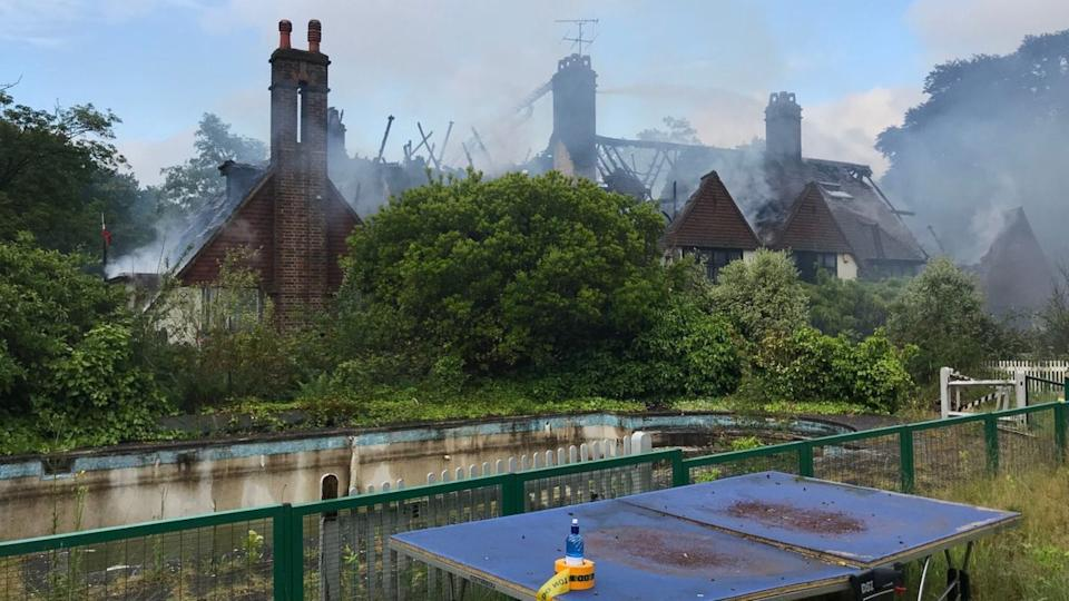 Williams' home was severely damaged by the flames (Credit: London Fire Brigade)