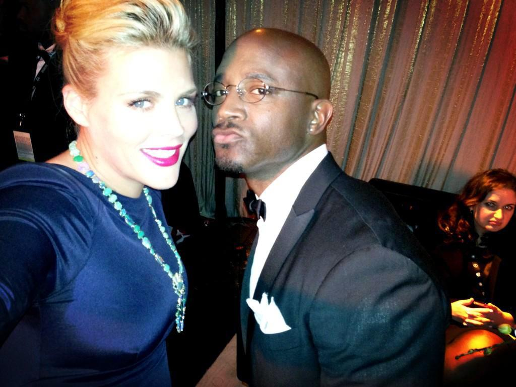 Backstage at the @SAGawards, waiting with @TayeDiggs to present! #SAGawards - @Busyphilipps25