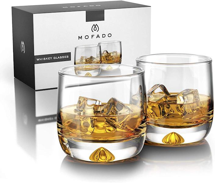 Mofado Crystal Whiskey Glasses - Best Gifts for Dad