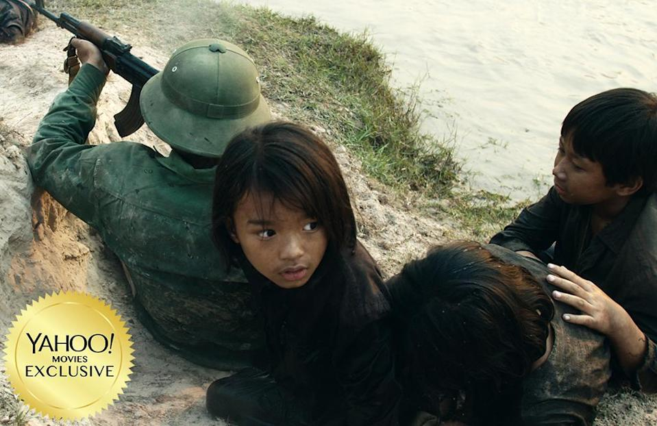 "<p><a href=""https://www.yahoo.com/movies/tagged/angelina-jolie"" data-ylk=""slk:Angelina Jolie"" class=""link rapid-noclick-resp"">Angelina Jolie</a>'s fourth feature in the director's chair is the harrowing tale of a young Cambodian girl (Sareum Srey Moch) who endured the rule of Khmer Rouge in the late 1970s, based on the memoir of Loung Ung. 