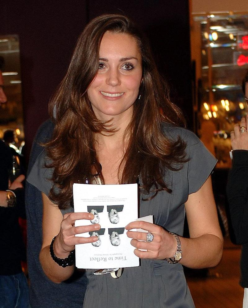 Kate Middleton attends the book launch party of 'Time To Reflect' by photographer Alistair Morrison, on Nov. 28, 2007 in London, England.