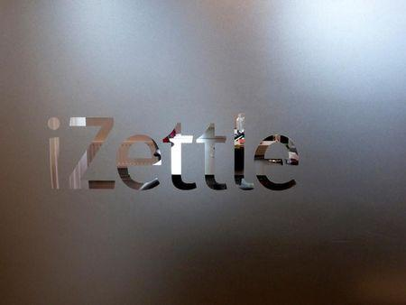 A logo of the iZettle company is pictured in the headquarters in Stockholm, Sweden, August 12, 2016. Picture taken August 12, 2016. REUTERS/Violette Goarant