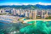 """<p>Honolulu offers an exceptional variety of experiences with its white sand beaches, unique flora and fauna, and bustling city life. At the center of the city, the eye-catching <a href=""""https://www.iolanipalace.org/"""" rel=""""nofollow noopener"""" target=""""_blank"""" data-ylk=""""slk:Iolani Palace"""" class=""""link rapid-noclick-resp"""">Iolani Palace</a> retells the history of the Kingdom of Hawaii and its rulers. And no trip to the island would be complete without a surf session (or sighting) at the Ala Moana Bowls. <br><br>Can't miss beautiful places: Hanauma Bay Nature Preserve, <a href=""""https://1938indochine.com/"""" rel=""""nofollow noopener"""" target=""""_blank"""" data-ylk=""""slk:1938 Indochine"""" class=""""link rapid-noclick-resp"""">1938 Indochine</a>, and Diamond Head</p>"""