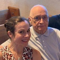 The author and her dad at her niece's wedding rehearsal in St. Louis in August 2019. (Photo: Courtesy of Tess Clarkson)
