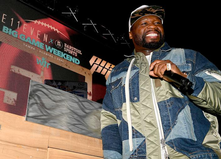 Rapper 50 Cent performs on Feb. 6, 2021 in Tampa, Florida. (Photo: Marcus Ingram/Getty Images for E11EVEN Miami)