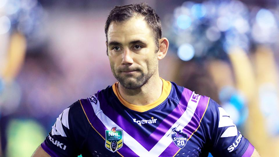 Cameron Smith (pictured) looking disappointed during a game.