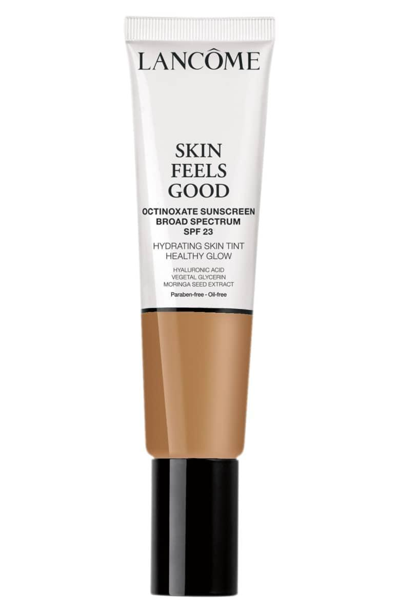 <p>This super moisturizing <span>Lancôme Skin Feels Good Hydrating Skin Tint Healthy Glow SPF 23</span> ($35) is buildable, so you can customize to your coverage needs.</p>