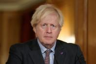 FILE PHOTO: Britain's PM Johnson holds virtual coronavirus briefing in London