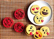 """<p><strong>cookiemoji baking co.</strong></p><p>amazon.com</p><p><strong>$18.97</strong></p><p><a href=""""http://www.amazon.com/dp/B016TWQLQE/?tag=syn-yahoo-20&ascsubtag=%5Bartid%7C10050.g.5114%5Bsrc%7Cyahoo-us"""" rel=""""nofollow noopener"""" target=""""_blank"""" data-ylk=""""slk:Shop Now"""" class=""""link rapid-noclick-resp"""">Shop Now</a></p><p>Bake Valentine's Day cookies with love—and with these cute emoji-shaped cutters. For a less sugary alternative, make smiley sandwiches!</p>"""