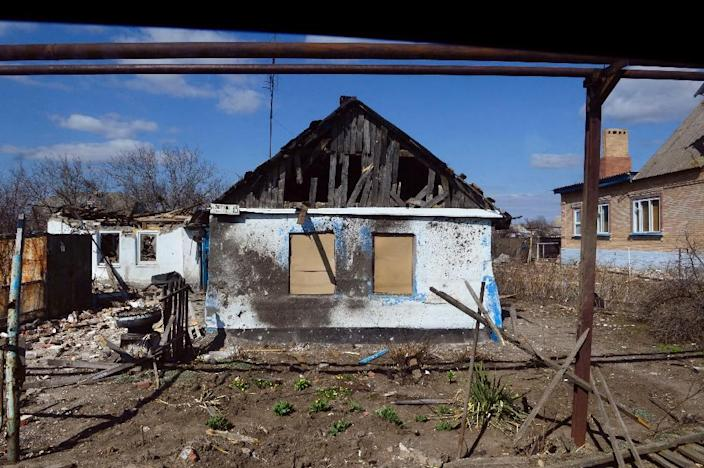 The frontline town of Shyrokyne sits on the frontline of fighting that rumbles on despite a supposed ceasefire in eastern Ukraine (AFP Photo/John MacDougall)