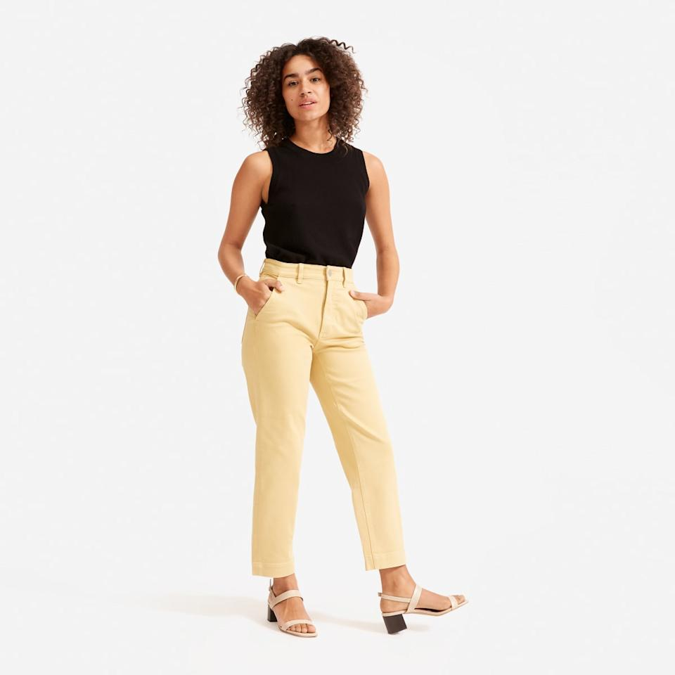 The Straight Leg Crop. Image via Everlane.