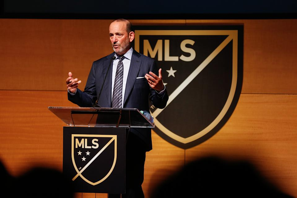 MLS commissioner Don Garber will take a 25 percent pay cut, a source told Yahoo Sports. (Jennifer Buchanan/USA Today)