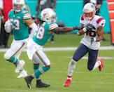 """<p>Among the rules: Players can't touch a wide receiver <a href=""""https://operations.nfl.com/the-rules/nfl-video-rulebook/illegal-contact/"""" rel=""""nofollow noopener"""" target=""""_blank"""" data-ylk=""""slk:after five yards"""" class=""""link rapid-noclick-resp"""">after five yards</a> unless they're making a play with the ball. If they do, they'll be assessed a 5-yard penalty. </p>"""