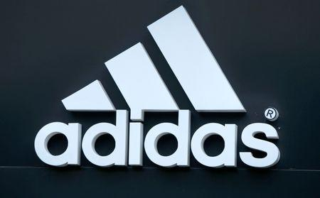 bfba08bff3e1 Logo of Adidas logo is seen on ta store in Yerevan
