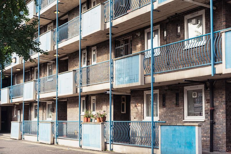 Flats in a social housing block in Hoxton, east London (Photo: georgeclerk via Getty Images)