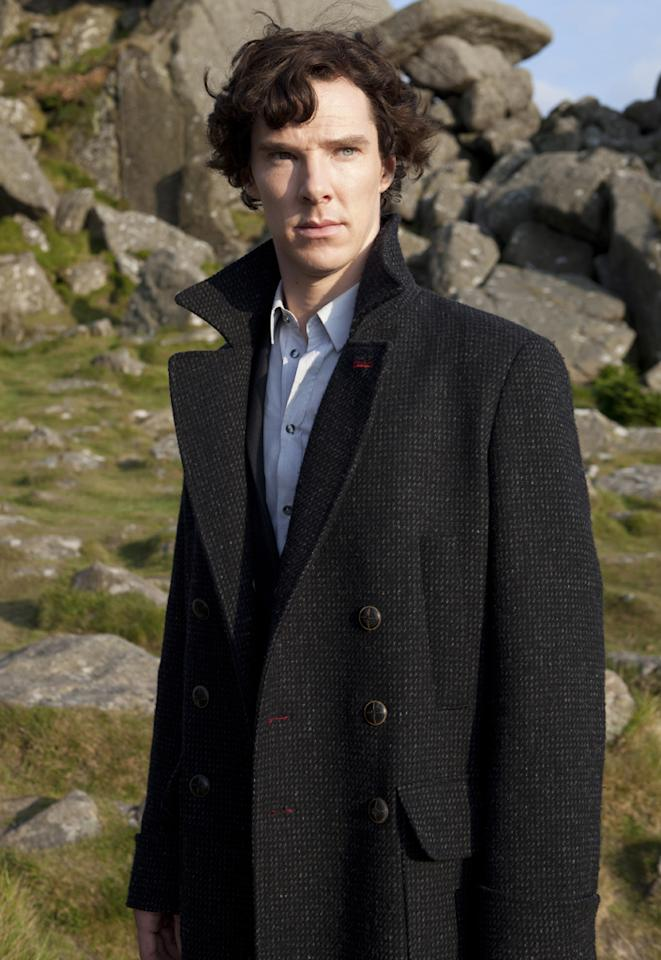 """<b>Benedict Cumberbatch, """"Sherlock"""" (Actor, Miniseries) </b><br><br>We had to double-check to make sure Cumberbatch wasn't nominated last year; it seems inconceivable that the TV academy would fail to recognize his brash, brilliant reinterpretation of the iconic detective Sherlock Holmes in PBS's modern-day reboot. Well, lucky for them, they get another shot at it; Cumberbatch was just as good in Season 2. And maybe if he wins, he'll say something mean about """"Downton Abbey"""" again! (We love """"Downton,"""" but we're Team Sherlock all the way.)"""