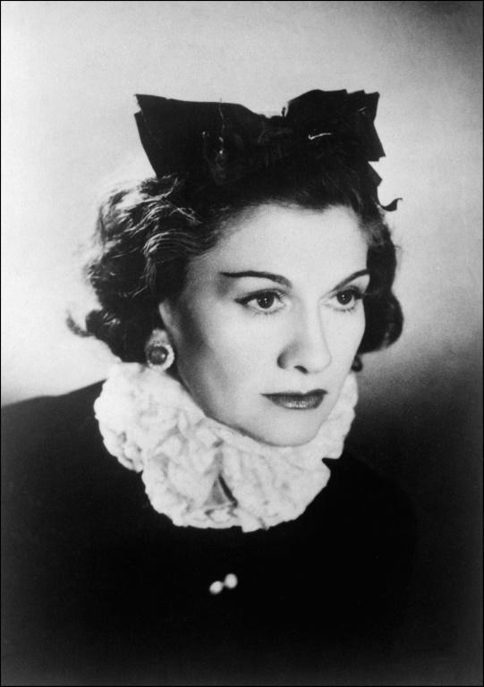 French fashion icon Coco Chanel, who died 50 years ago, pictured in 1944 in Paris