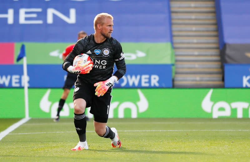 Leicester's Rodgers hails Schmeichel for rescuing point against Brighton