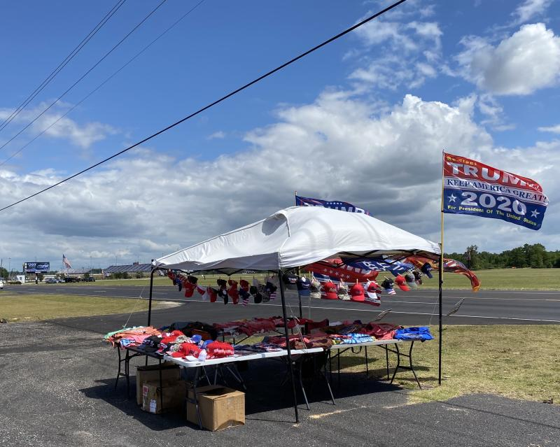 Selling Trump merchandise at a NASCAR race has, in the past, been lucrative. Not so Sunday at Darlington. (Yahoo Sports)