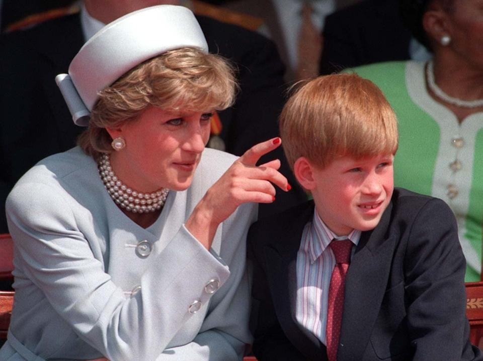 Diana, Princess of Wales, pictured with a young Prince HarryMartin Keene/PA