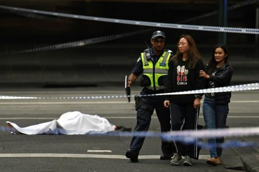 Melbourne knifeman shot dead after killing one person, injuring two others