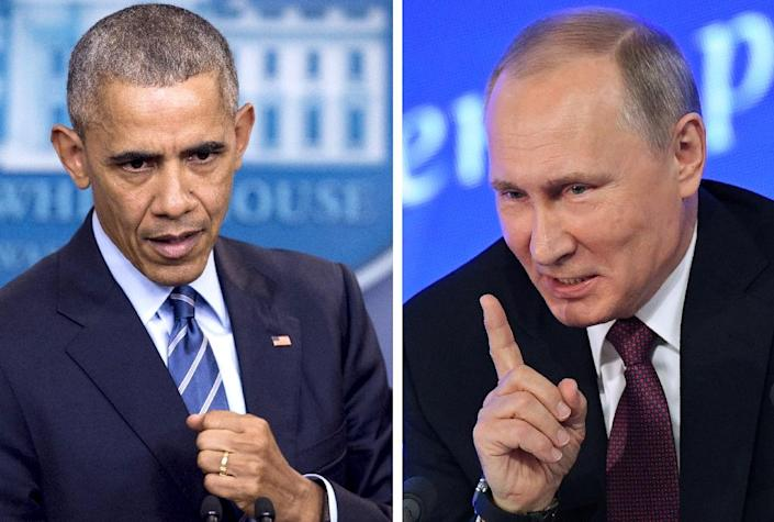 President Putin's refusal to expel US diplomats came after Russia's foreign ministry asked him to send home 35 in a tit-for-tat retaliation for the expulsion of the same number of its staff by President Barack Obama (AFP Photo/)