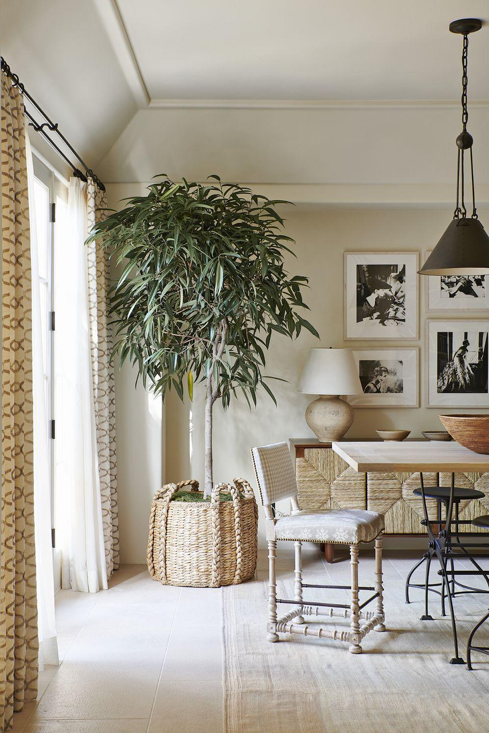"<p>This monochromatic space feels layered and luxurious thanks to natural fibers, artisan-made goods, and the genius eye of Mark D. Sikes. This space is ideal for fashion designer Karen Kane to find peace of mind and enjoy the natural beauty of her sunny surroundings at <a href=""https://www.veranda.com/decorating-ideas/house-tours/a34244492/mark-sikes-california-house-tour-2020/"" rel=""nofollow noopener"" target=""_blank"" data-ylk=""slk:her Southern California abode"" class=""link rapid-noclick-resp"">her Southern California abode</a>.</p>"