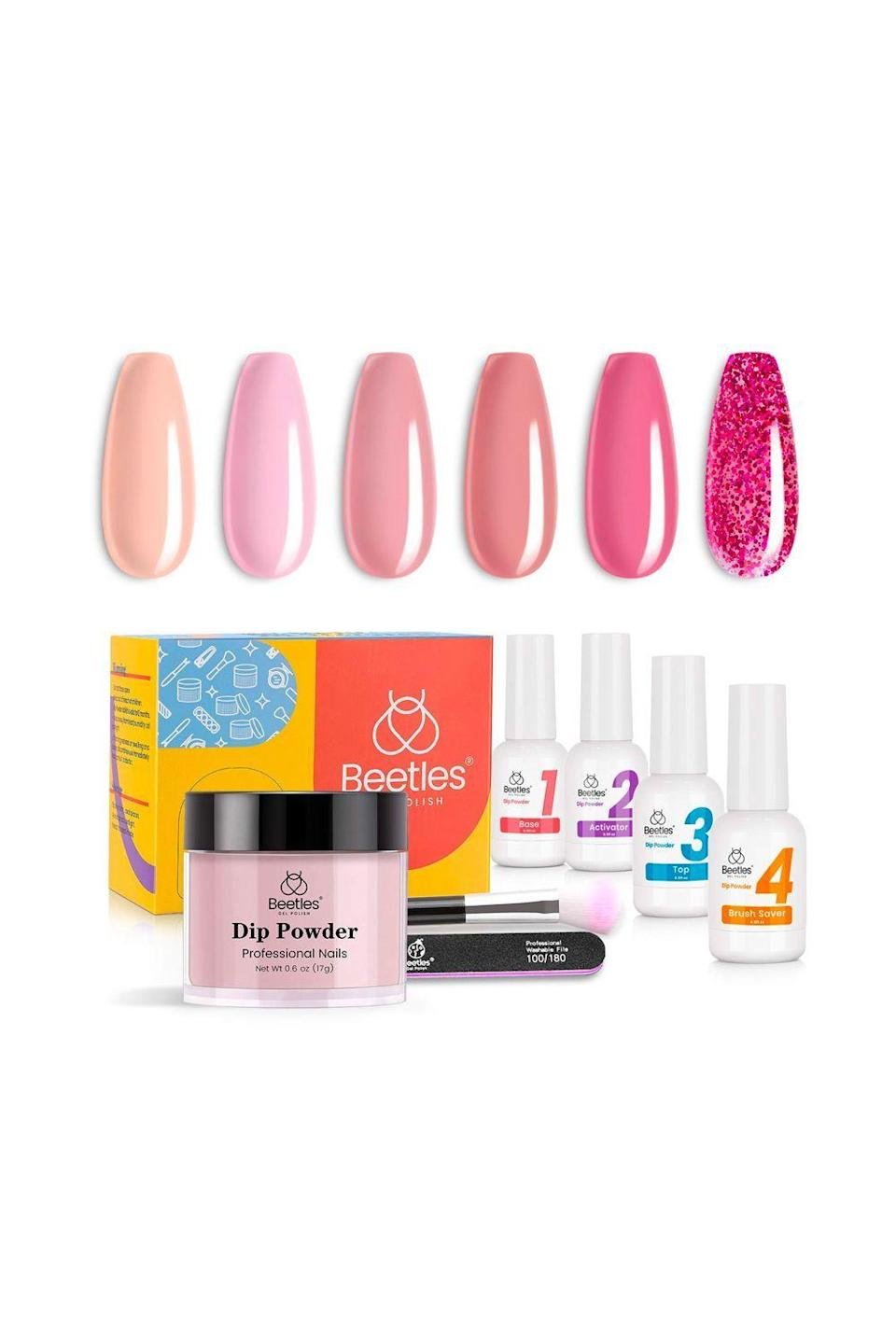 """<p><strong>beetles Gel Polish</strong></p><p>amazon.com</p><p><strong>$15.99</strong></p><p><a href=""""https://www.amazon.com/dp/B08LPDXM18?tag=syn-yahoo-20&ascsubtag=%5Bartid%7C10049.g.31817042%5Bsrc%7Cyahoo-us"""" rel=""""nofollow noopener"""" target=""""_blank"""" data-ylk=""""slk:Shop Now"""" class=""""link rapid-noclick-resp"""">Shop Now</a></p><p>IMO, a manicure is only as good as the time it lasts. And while that <em>kiiinda</em> depends on how fast your nails grow, <strong>this kit boasts an impressive three weeks before you need to <a href=""""https://www.cosmopolitan.com/style-beauty/beauty/g30383581/best-gel-polish-removers/"""" rel=""""nofollow noopener"""" target=""""_blank"""" data-ylk=""""slk:remove the gel"""" class=""""link rapid-noclick-resp"""">remove the gel</a>. </strong>And if you want nice nails but also gotta pay rent, this one is on sale for Amazon Prime Day 2021. </p>"""
