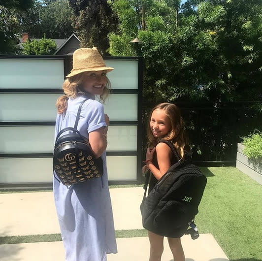 "<p>Mother (Giada De Laurentiis) and daughter both rocked backpacks for the latter's first day of fourth grade. ""We are ready,"" the celeb chef reported. (Photo: <a href=""https://www.instagram.com/p/BYtIH0LHXxU/?hl=en&taken-by=giadadelaurentiis"" rel=""nofollow noopener"" target=""_blank"" data-ylk=""slk:Giada DeLaurentiis via Instagram"" class=""link rapid-noclick-resp"">Giada DeLaurentiis via Instagram</a>) </p>"