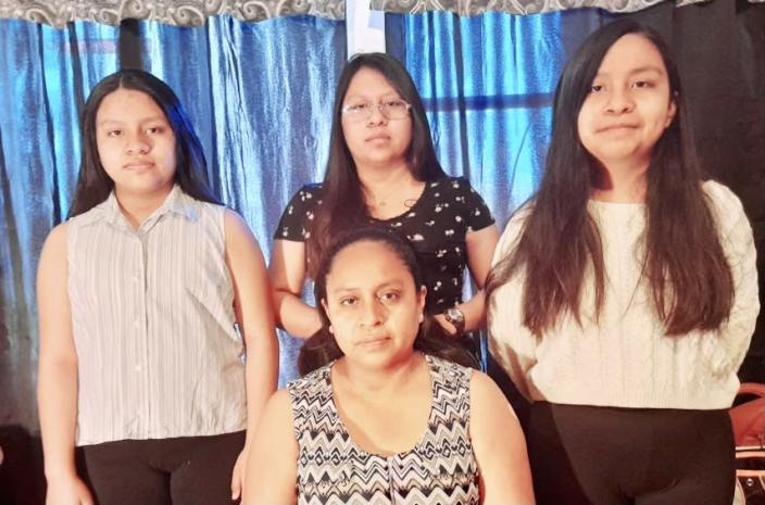 Petronila Paxtor, seated, with daughters, from left, Jackelin, Brenda and Ana. (Courtesy of Petronila Paxtor)