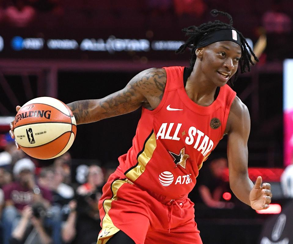Erica Wheeler in the All-star jersey.