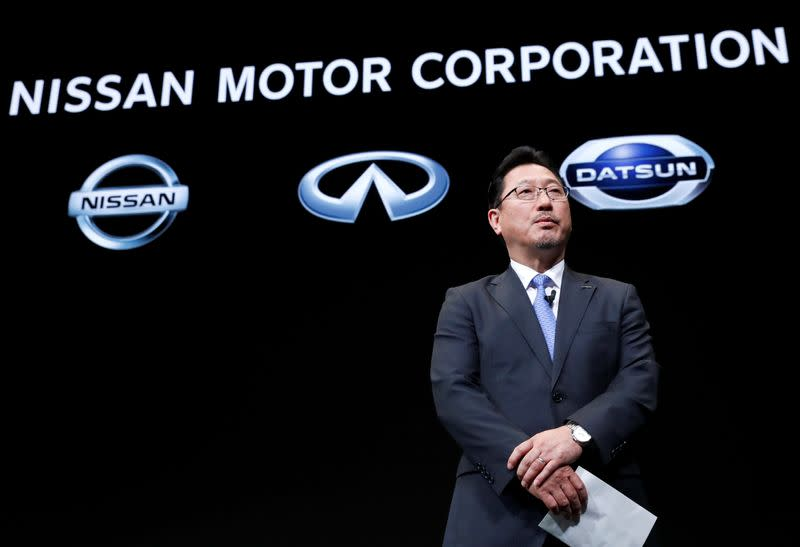 FILE PHOTO: Nissan Motor's executive officer vice-COO Jun Seki attends a news conference in Yokohama