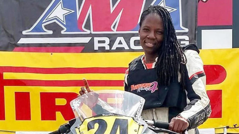 Stuntwoman and motorbike rider Joi Harris. (Credit: Facebook)