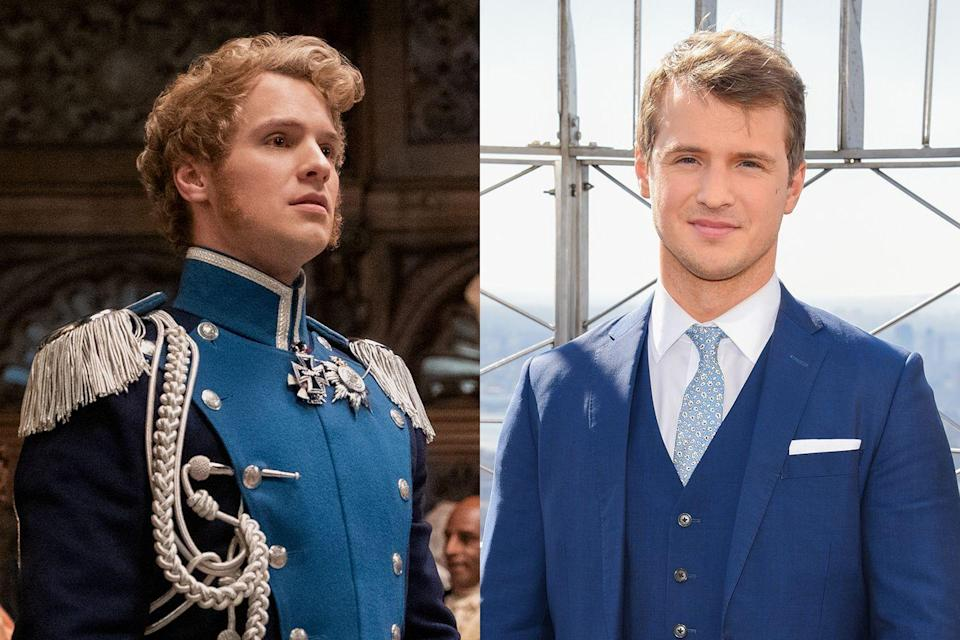 <p>Freddie Stroma—known to <em>Pitch Perfect</em> fans as Luke and <em>Harry Potter</em> fans as Cormac McLaggen—is the actor behind Prince Friederich, a foreign royal visiting his relative Queen Charlotte.</p>