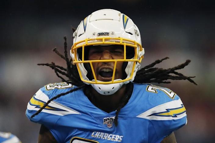 """Opposing quarterbacks could see Chargers strong safety Rayshawn Jenkins lined up in many different places this season. <span class=""""copyright"""">(Eduardo Verdugo / Associated Press)</span>"""