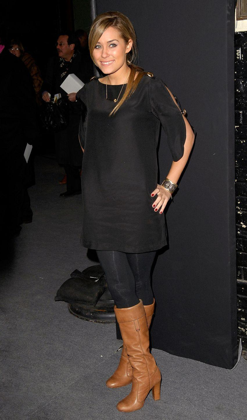 <p>It also meant that LC's leather boots and leggings worn as pants were entering the closets of her many followers at the time.</p>