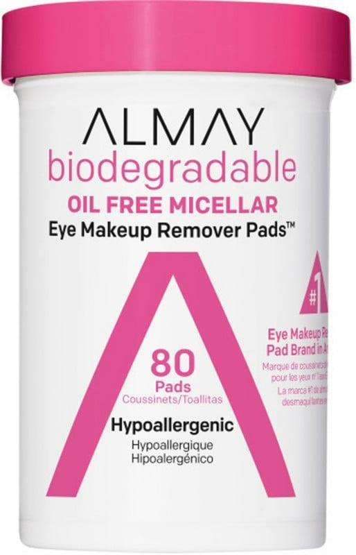 <p>We love eye makeup remover pads for the convenience but don't like the environmental waste they cause. A solution: the <span>Almay Biodegradable Micellar Eye Makeup Remover Pads</span> ($6) These single-use, micellar water-soaked pads are made from 100 percent biodegradable fibers.</p>