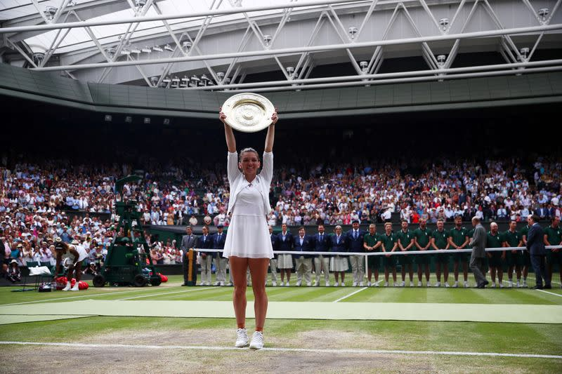 At least I can be Wimbledon champion for two years, says Halep