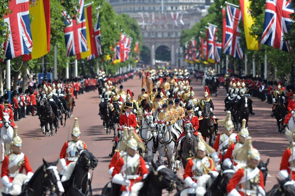 Around 1,000 troops took part in the state visit (PA)