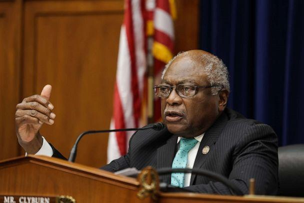 PHOTO: House Oversight and Reform Subcommittee Chairman James E. Clyburn speaks at a hearing on Capitol Hill, Sept. 1, 2020, in Washington, DC. (Graeme Jennings/Pool/Getty Images, FILE)