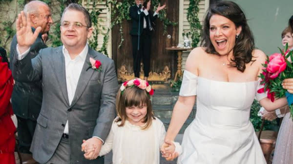 Why Patton Oswalt And Meredith Salenger's Romance 'Felt So Right' After Death Of His Wife
