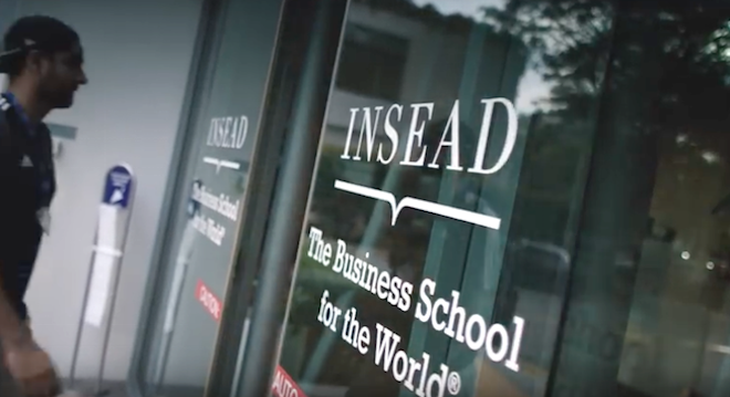 INSEAD reports the highest average GMAT scores of any European business school. File photo