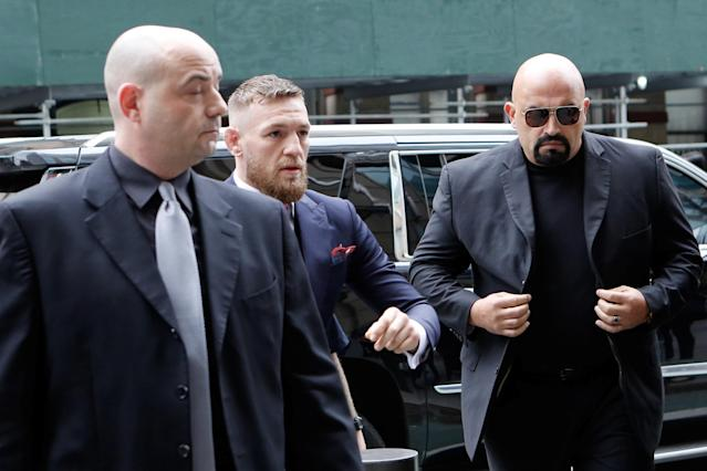 Conor McGregor returns to court in Brooklyn to accept a plea deal. (REUTERS/Eduardo Munoz)
